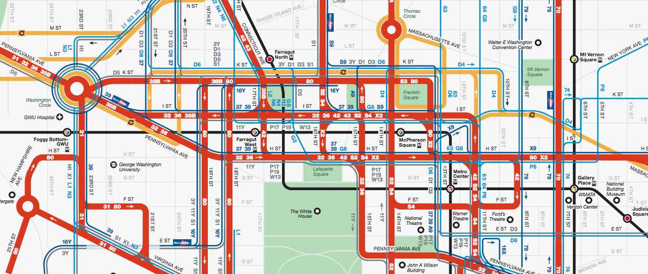 DC BUS GUIDE | mgr.info Dc Metro Bus Map on